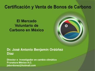 Certificación y Venta de Bonos de Carbono
