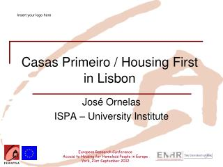 Casas Primeiro / Housing First in Lisbon