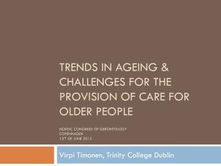 Virpi Timonen, Trinity College Dublin