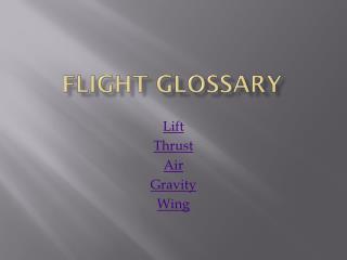 Flight Glossary