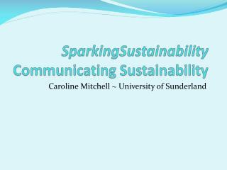 SparkingSustainability Communicating  Sustainability