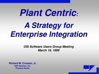 A Strategy for Enterprise Integration