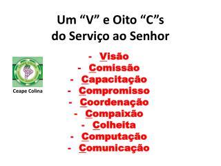"""Um """"V"""" e Oito """" C""""s do Serviço ao Senhor"""