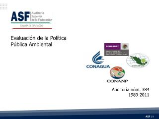 Evaluación de la Política  Pública Ambiental