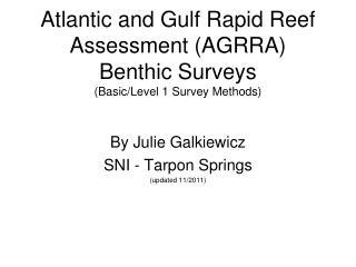 Atlantic and Gulf Rapid Reef Assessment (AGRRA) Benthic  Surveys (Basic/Level 1 Survey Methods)