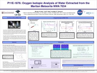 P11E-1876: Oxygen Isotopic Analysis of Water Extracted from the  Martian Meteorite NWA 7034