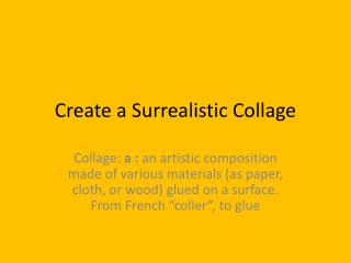 Create a Surrealistic Collage