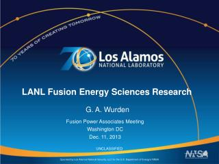 LANL Fusion Energy Sciences Research