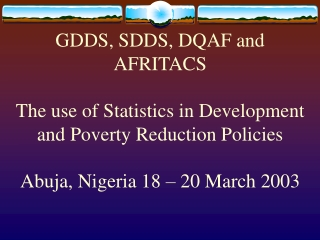 Policy Formulation and Capacity Building for Improved Access to ...