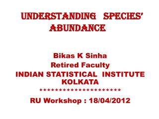 Understanding   Species� Abundance
