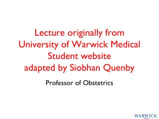 Professor  of Obstetrics