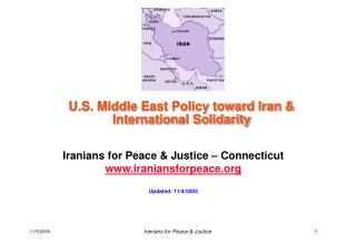 U.S. Middle East Policy toward Iran & International Solidarity