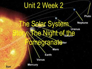 Unit 2 Week 2 The Solar System Story: The Night of the Pomegranate