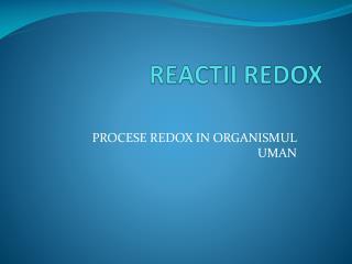 REACTII REDOX