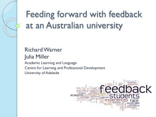 Feeding forward with feedback at an Australian university
