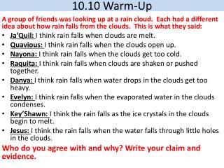 10.10 Warm-Up