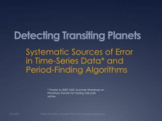 Detecting Transiting Planets
