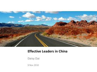 Effective Leaders in China