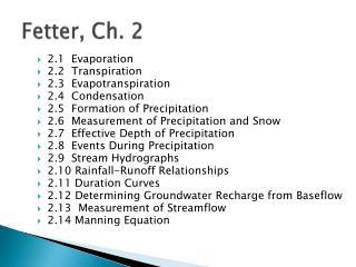 Fetter, Ch. 2