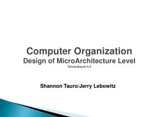 Shannon  Tauro /Jerry  Lebowitz
