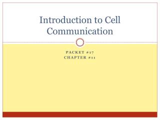 Introduction to Cell Communication