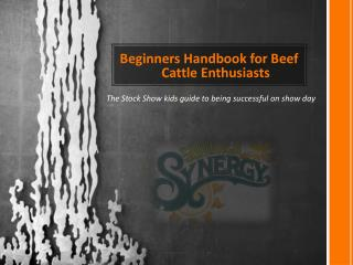 Beginners Handbook for Beef Cattle Enthusiasts