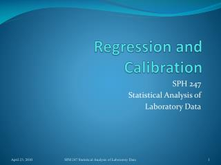 Regression and Calibration