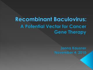 Recombinant  Baculovirus :
