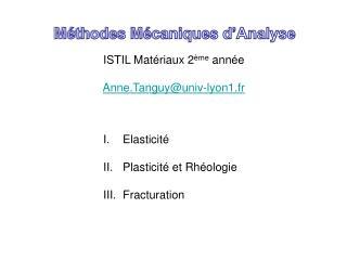 Méthodes Mécaniques d'Analyse
