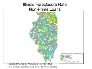 Illinois Foreclosure Rate  Non-Prime Loans
