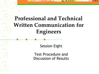 Professional and Technical Written Communication for Engineers