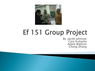 Ef  151 Group Project