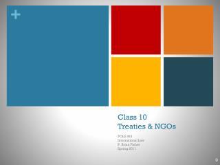 Class 10 Treaties & NGOs