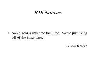 RJR Nabisco
