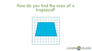 How do you find the area of a trapezoid?
