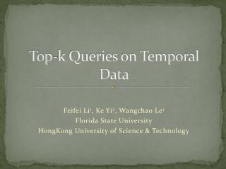 Top-k Queries on Temporal Data
