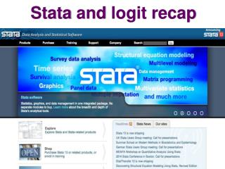 Stata  and  logit  recap