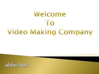 Corporate Video Making agency in India
