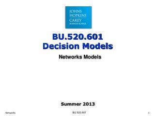 Networks Models
