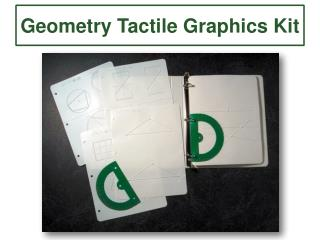 Geometry Tactile Graphics Kit
