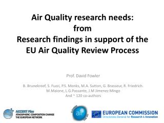 Air Quality research needs: from Research findings in support of the EU Air Quality Review Process