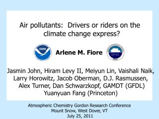 Air pollutants: Drivers or riders on the climate change express?