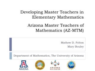 Department of Mathematics, The University of Arizona