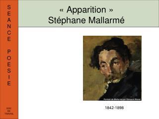 «Apparition»  Stéphane Mallarmé