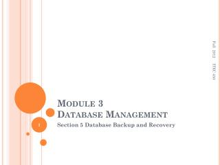 Module 3  Database Management