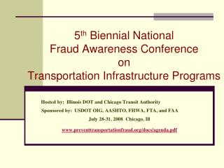 5 th Biennial National Fraud Awareness Conference on ...
