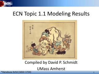 ECN Topic 1.1 Modeling Results