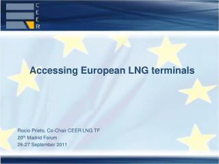 Accessing European LNG terminals