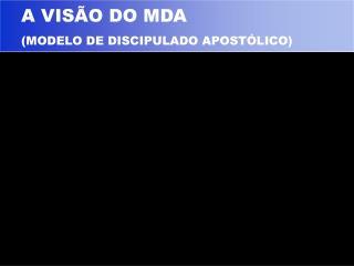 A VISÃO DO MDA (MODELO DE DISCIPULADO APOSTÓLICO)
