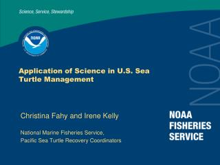 Application of Science in U.S. Sea Turtle Management